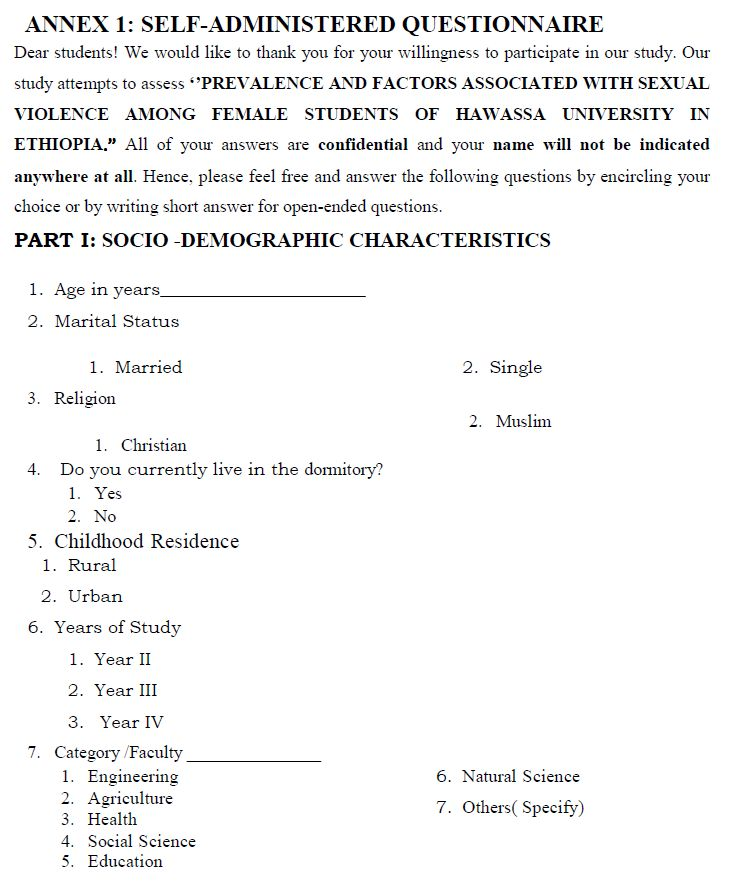 Prevalence and factors associated with sexual violence among female